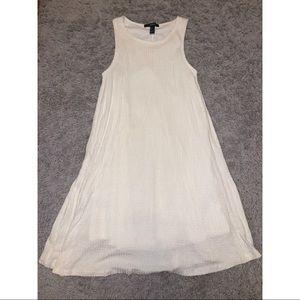 plain white tank top dress
